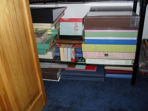 Organize Your Stuff Challenge. Week 8. Project, Unfinished Pages, and Kits