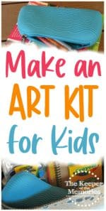 How To Make An Art Kit For Kids