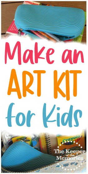 collage of Art Kit for Little Kids images with text: Make An Art Kit for Kids
