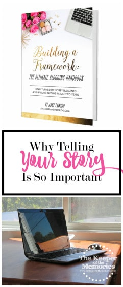 Are you ready to tell your story and grow your blog? Building A Framework is the only blogging handbook you'll ever need.