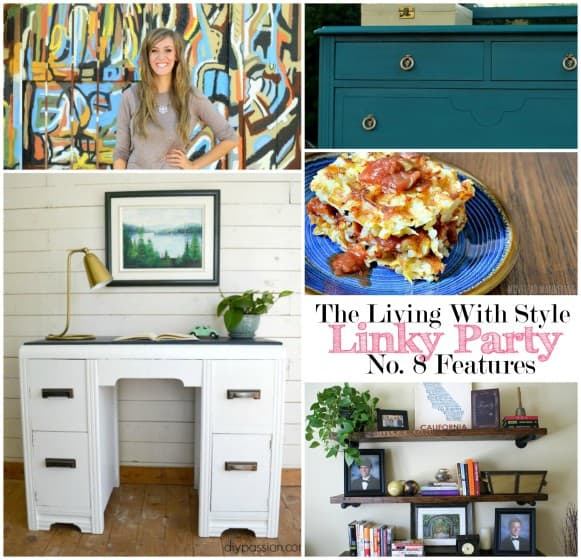 the living with style linky party features