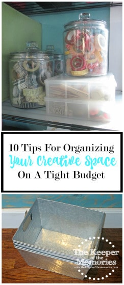 Overwhelmed? Frustrated? Looking for inspiration? Here are 10 tips for organizing your creative on a tight budget. Lots of awesome ideas in this post!