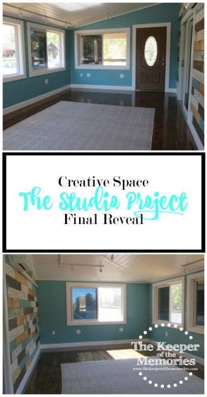 Guess what, y'all! We finally wrapped up the studio project. I can't believe it and I'm definitely still in awe. Imagine me out there with the little guy spinning around in circles and jumping up and down.  Talk about a long week of touching things up and cleaning in here. That's always the worst part. I'm willing to bet you agree. I can't even begin to tell you how much time I've spent puttying and filling things. It was totally worth it, though. You're definitely going to want to check this out!