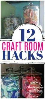 12 Awesome Hacks For Organizing Your Craft Room + Free Printable
