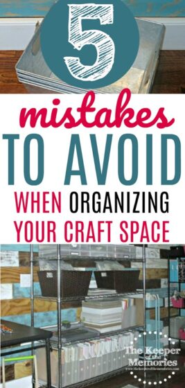 5 Mistakes To Avoid When Organizing Your Craft Room