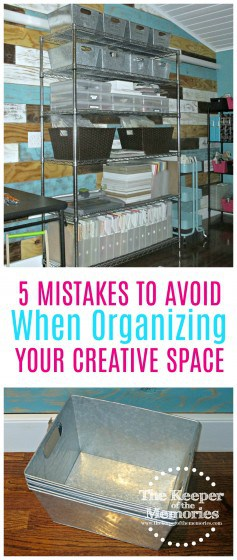 We all make mistakes when it comes to our creative spaces. Some of us just happen to make more than others. I've definitely made my fair share of them over the years. I love to shop and I love to organize, which always seems to get me into trouble. Coupons make for some pretty powerful persuasive tools, don't you think? I mean, c'mon... 40% off? Sign me up! #organizing