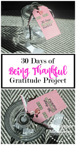 The year that I was pregnant with the little guy, I did a 30 Days of being thankful project on my blog. I love to look back and see the different things I wrote each day. It's crazy to think about how quickly life changes. This year, I thought it'd be fun to do something similar, but that we could have as a keepsake going forward.