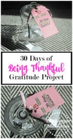30 Days of Being Thankful Gratitude Project in a Jar