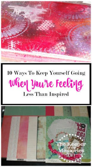We've all been there and done that, haven't we? We're going along just fine and then all of a sudden it hits us – a creative road block of sorts. For one reason or another, we're feeling less than inspired and we have absolutely no idea what to do about it. Check out these 10 awesome tips to keep yourself going when you're feeling less than inspired.