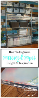 52 Weeks To An Organized Workspace – Patterned Paper