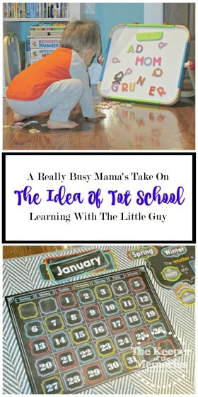 "Are you a full-time-working mama who loves the idea of spending some intentional time with your toddler every week, but maybe you're not exactly sure how to pull it off? Here's one really busy mama's take on the idea of ""tot school."" Love this!"