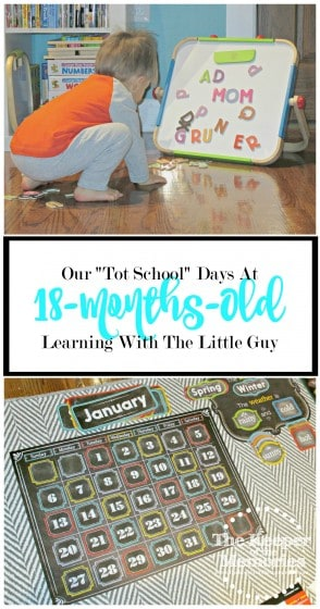 "Not too long ago, I discovered the concept of ""Tot School."" Of course this creative mama's all like ""Where do I sign up?"" After all, I'm always up for learning through play. Do you have a toddler? If you're curious what our ""Tot School"" days look like at 18-months-old, check out this post where we share our daily routine as well as our favorite activities."