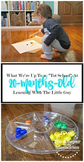 """Bored? Looking for fun things to do with your toddler? Check out one creative mama's """"Tot School"""" journey with her little guy for some inspiration."""