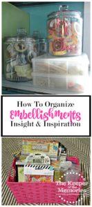 How To Organized Embellishments