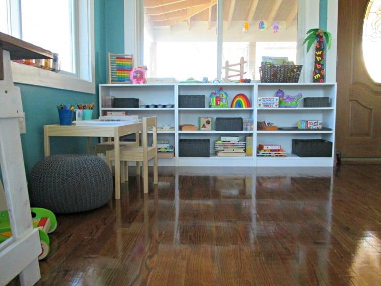 montessori-inspired shelves