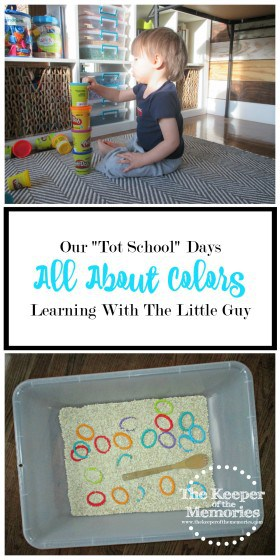 "If you're looking for fun color activities to do with your toddler, check out this post! This mama put together an awesome ""Tot School"" week that was all about colors."