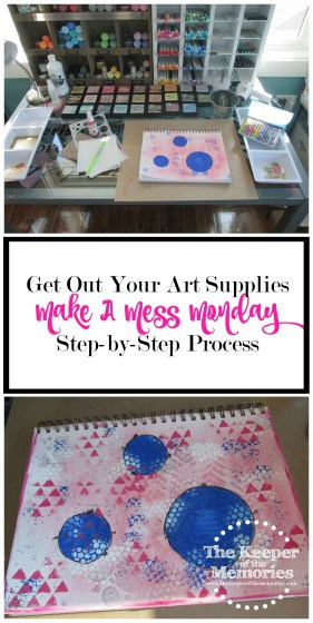 Guess what, y'all? It seems as though we've been doing nothing but organizing lately, so I thought it was about time to make a mess. Say what? Yep, you heard me right. This week, I'm challenging you to get out your art supplies and to of course get messy in the process.