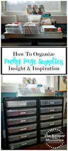 How To Organize Pocket Page Supplies