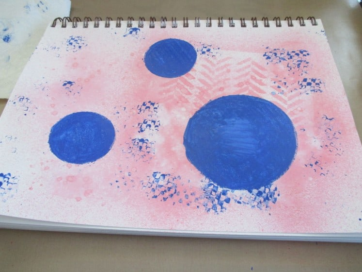 make a mess journal page (4)