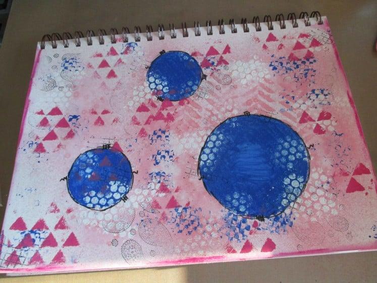 make a mess journal page (5)