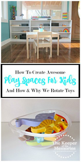 Here's a look at how one creative mama put together an awesome Play Space and how & why rotating toys works. Check it out!