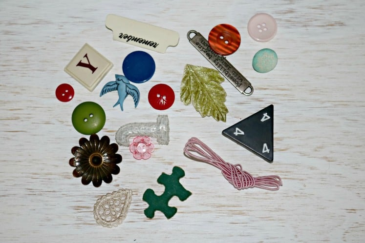 small embellishments scattered on a table