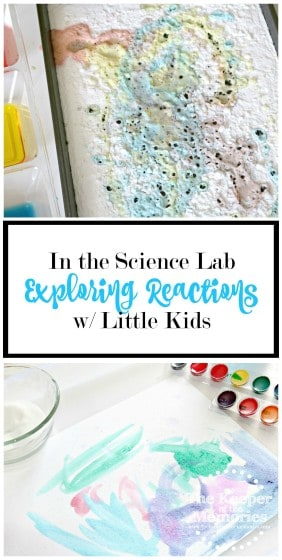 Lots of awesome ideas for exploring reactions w/ little kids. Make chemistry fun! Salt painting, baking soda + vinegar, & invisible ink. Check it out!