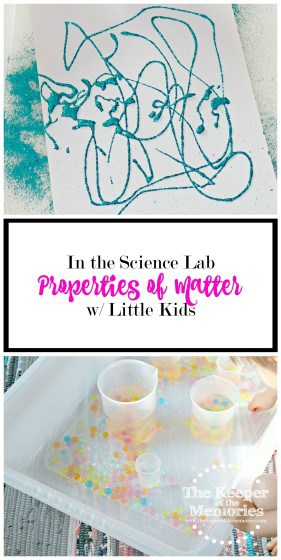Lots of awesome ideas for exploring properties of matter w/ little kids. Make chemistry fun! Spicy name, who is a scientist, & feather sort. Check it out!