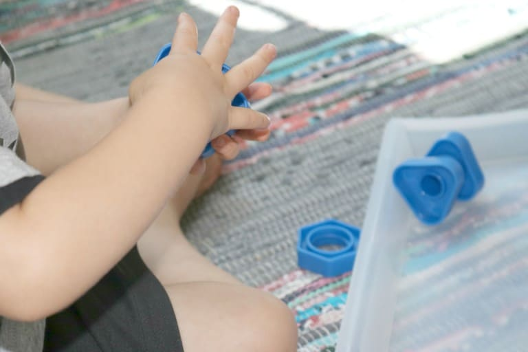 In the Science Lab – Exploring Fasteners With Little Kids