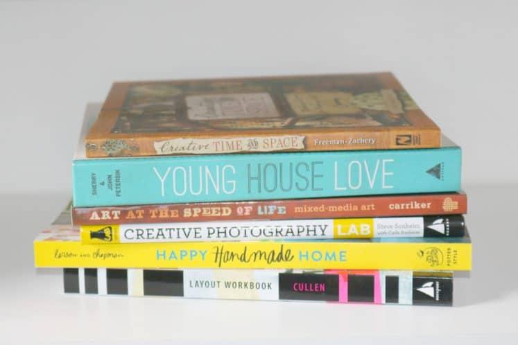 stack of craft books