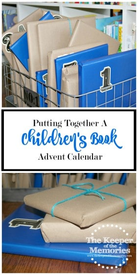 I wanted to do something awesome for the little guy for Advent this year, so I decided to put together a children's book Advent calendar. I thought it'd be a fun way to celebrate the season and encourage a love of books at the same time. Check it out!
