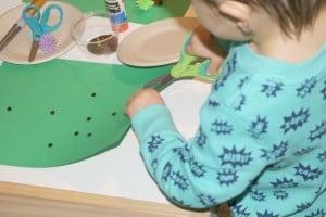 Hedgehog Invitation to Create Process Art Experience