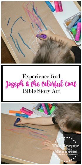 Teach your little kids to make their very own colorful coat just like Joseph's. Find out how in this post.