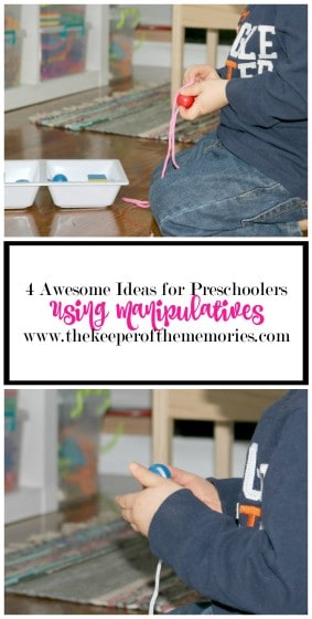 Have you ever stopped to think about all the fun stuff you can do with just one set of manipulatives? Well, let's brainstorm. Follow along with us as we find out for ourselves and share the 4 awesome ideas that we came up with for preschoolers.