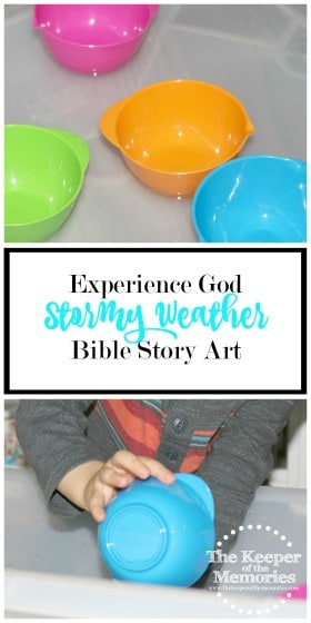 Here's an awesome activity to teach kids that God is bigger than the storm. We can pray and ask him to keep us safe. Click through to read now or pin to save for later.