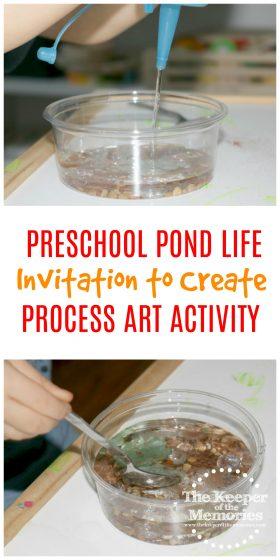 Preschool Pond Theme Pond Life Invitation to Create Process Art Experience