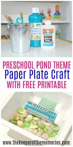Make your own Preschool Pond Theme Underwater Paper Plate Craft with your little kids! It's a quick, easy, and of course fun Invitation to Create Process Art Experience that you definitely don't want to miss!
