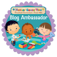 Mother Goose Time Blog Ambassador Badge with children playing