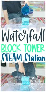 Island Theme Water Block Tower Investigation Station