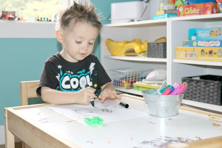 preschooler coloring letter activity sheet