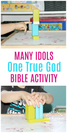 I'm definitely in love with this one true God bible activity for preschoolers! So quick + easy! #bible #preschool