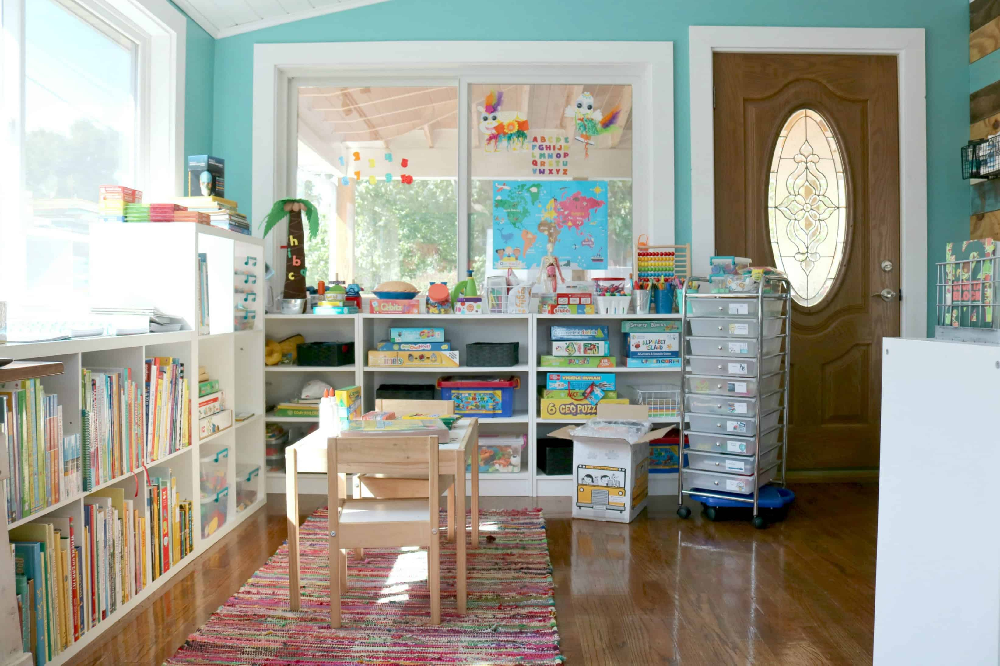 Our Awesome Preschool Homeschool Space for the 2017-2018 Homeschool Year