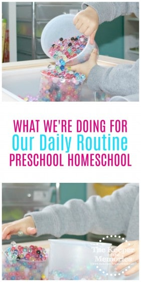 Whether or not you have a daily routine is what's going to determine whether or not you've got this preschool homeschool mama thing down. Here's how one mama put together a daily schedule for preschool homeschool. Check it out! #preschool #homeschool #schedule