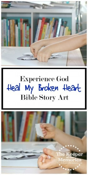 This was so much fun for learning about how God heals our broken hearts. Great lesson with a quick + easy activity! Check it out!