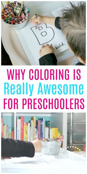 Coloring is so important for little kids. Find out why in this post. Click through to read now or pin so save later. #coloring #preschoolers