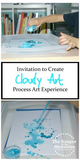 This is such an awesome art project for little kids using droppers and a few different consistencies of paint. You've gotta check it out! Love process art!
