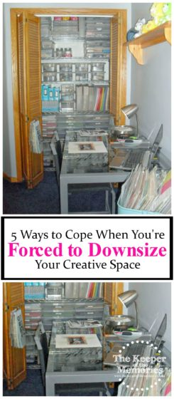 Do you need to downsize your creative space, but you're really not sure where to start. Keep reading for lots of ideas to help you do just that.