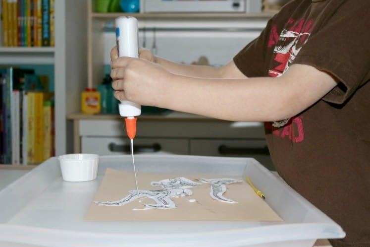 Pretend to Be A Paleontologist with This Fun Excavation Dig Invitation to Create Process Art Experience