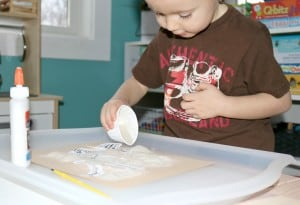 Pretend To Be A Paleontologist w/ This Fun Excavation Dig Invitation To Create Process Art Experience