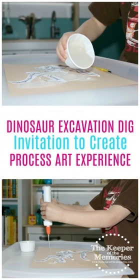 Little kids love sand art! And here's a fun twist on an old favorite. Check it out! #preschool #dinosaurs